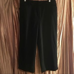 Talbots Black Wool Lined Cropped Pants Size 14